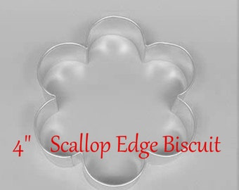 "Cookie Cutter Wedding Collection  One 4"" Scallop Edge Biscuit  Cookie Cutter   Party  Baking  Fun"