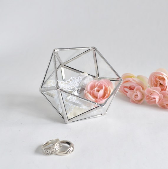 Glass Wedding Gift Box : Glass Terrarium, Glass Box, Wedding Gift, Wedding Ring Box, Clear ...