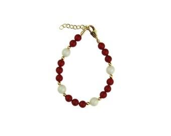 Coral Pearl Bracelet (BCRMP, BCRWG)