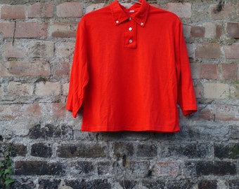 1950s/ 60s wool jersey knitted top