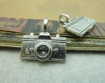 20pcs 21*21mm antique silver  camera charms pendant C5965