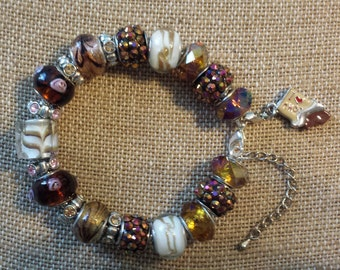Euro Bracelet I love Chocolate JUST REDUCED Again! White Chocolate Caramel Square Fully Loaded!