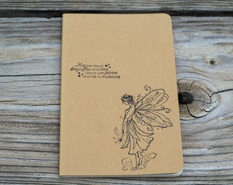 May you touch dragonflies and stars , Dance with faries and talk to the Moon Fairy Journal Notebook