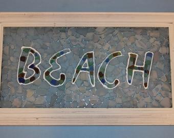 BEACH Sea Glass Mosaic