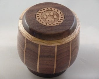 Walnut Pin Stripe Cremation Pet Urn  # 794-40