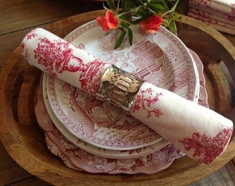 9 Fabulous Red Toile Napkins to add that Perfect Touch Romance to Your Place Settings