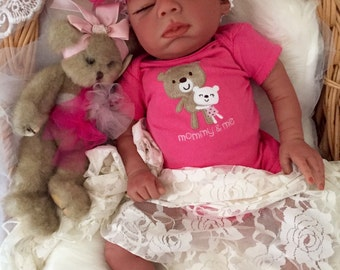 Completed Bi Racial Sidney Completed Reborn Baby Doll from the Baylee 21 inch kit
