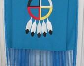 "60"" ladies dance shawl, native american style"