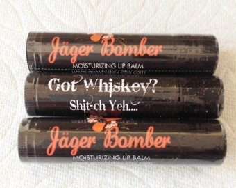 New JAGER BOMBER scented Chap stick by Got Whiskey -All Natural organic-Bachelor-Bachelorette-Gag gift-Birthday party-wedding favors