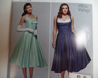 Vintage1950s- Simplicity 0857--Prom-Party-Wedding Dress--Sizes 10-18--UNCUT