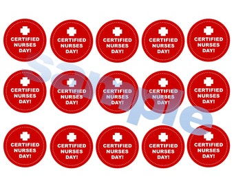 printable downloadable Certified Nurses Day Party Tags