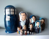 Set of Fifteen Doctor Who Nesting Dolls