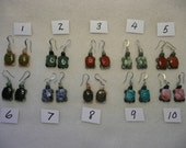 CLOSE OUT Gemstone Turtle Earrings  1 Pair