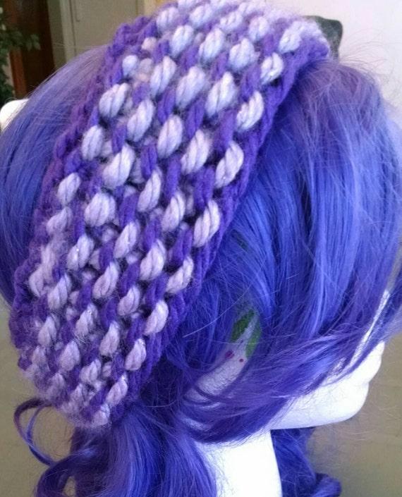 Reversible Headband Knitting Pattern : Two colored Reversible Headband Knitted earwarmers Choose