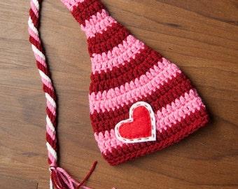 Newborn Pixie Hat with a Twist