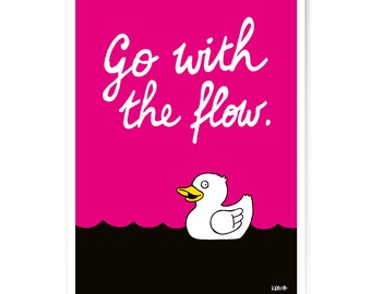 "Art Print ""Go with the flow"" 60x80 cm"
