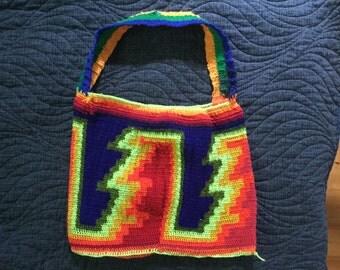 Rainbow Bilum String Bag from Papua New Guinea Shopping bag market bag