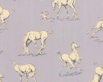 Purebred by Erin Michael - Horsing Around in Paddock Grey - Moda - 26091-11 - 1/2 yard