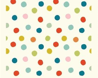 Mod Basics 3 - Pop Dots in Multi- Birch Organic Fabrics - MB3-03-MULTI - 1/2 yd