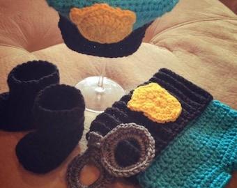 Crochet Police Set