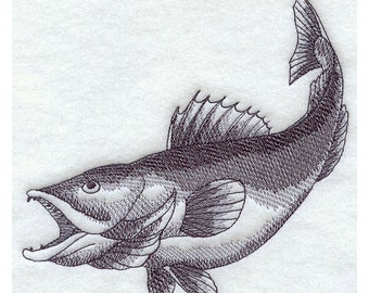 Custom Embroidered Walleye Sweatshirt S-3XL