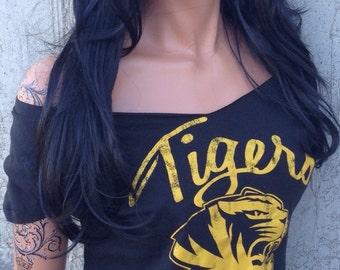 MU Tigers Shredded Shirt