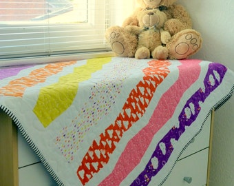 "PDF Pattern: 'Tumbling Stacks' Cot Quilt 37"" x 45"""