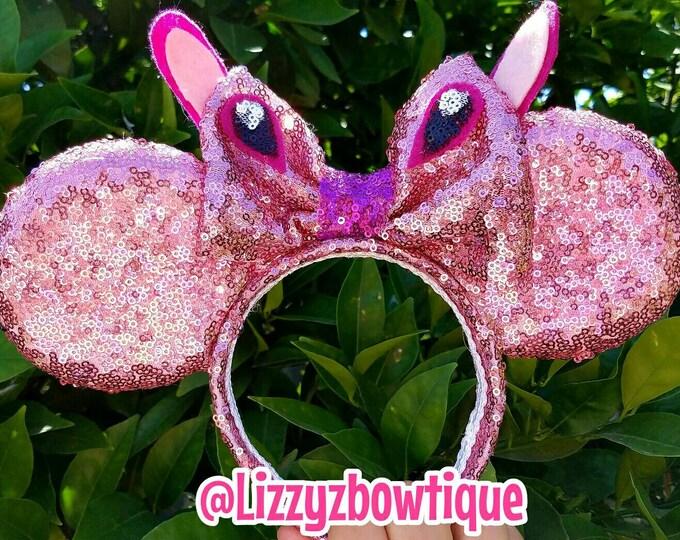 Lilo and Stitch Angel sequin Minnie ears