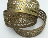 3 Brass Cuffs Unfinished Cuff filigree cuffs