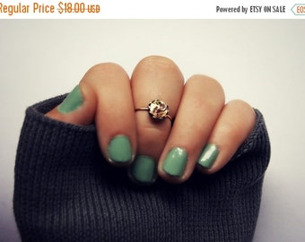FALL SALE amethyst opal knuckle ring in sterling silver, midi ring, galaxy knuckle ring, midi ring, minimalist ring, stacking ring, two tone