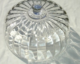 Large Vintage Glass Cake Dome