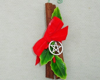 Cinnamon Holiday Ornament with Pentagram