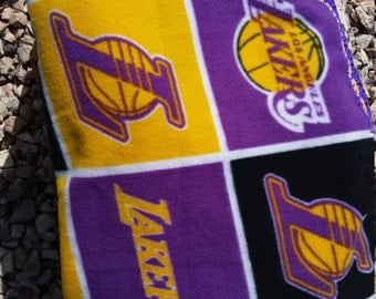 Los Angeles Lakers Crocheted Fleece Blanket