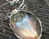 SPOON LADLE recycled fancy silverware cutlery layering necklace