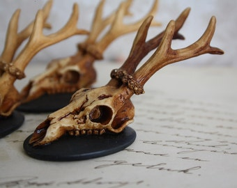 3 Deer Skull Cameo Antler Deer Skull Cameo Resin Cabochon Taxidermy Animal Steampunk Gothic Goth Skull Ivory 40x30mm 3 PIECES