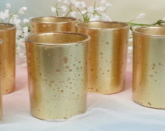 70 per gold mercury glass votive candle holder for weddings and parties gold mercury