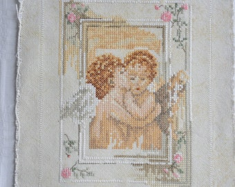 Finished / Completed Cross Stitch - Lanarte - Angels (small) ( 34774 ) crossstitch counted cross stitch