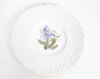 Vintage Royal Cauldon Plate Bristol Ironstone Woodstock Rock Rose Made in England 9 1/2 inch