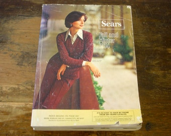 Vintage 1974 SEARS Catalog Fall and Winter Sears, Roebuck and Co. Store Catalog / Wish Book Disco Era 70s Fashion & Furniture