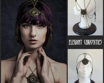 Headchain 'Sweet nouveau', art nouveau , art deco inspired , headpiece , headdress  * Elegant Curiosities *