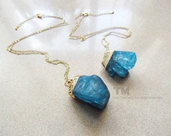 Blue Crystal - Fantasy Inspired Quartz Necklace