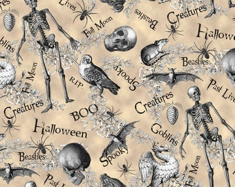 All Hallows Eve by M Design Studio for Blank Quilting (8128-40) Ecru - 1 Yard
