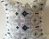 SALE**Single Pillow Cover 18x18 inch - Pixel Pattern Home Decor Fabric