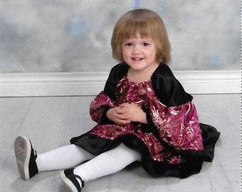 Baby Goth Brocade and Taffeta Dress
