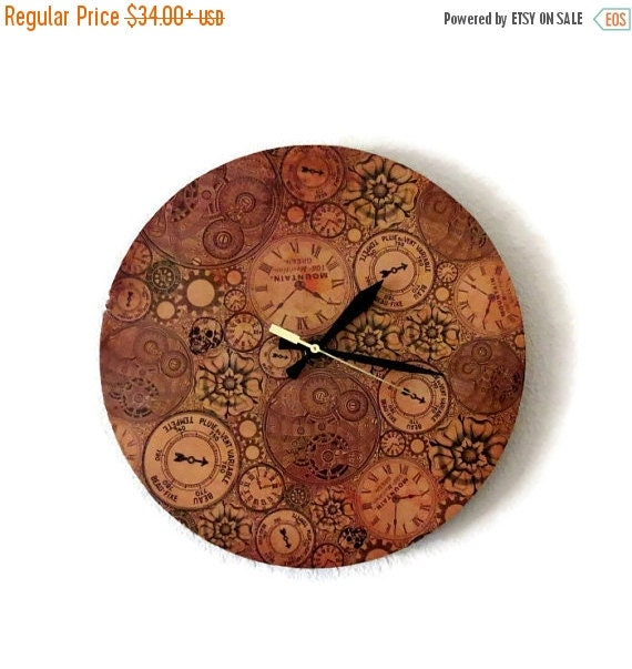 Sale Steampunk Clock Unique Wall Clock Silent Wall By