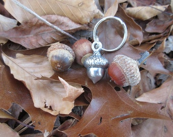 Acorn Keychain- Fall Accessories- Fall Keyring- Acorn Things