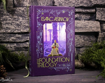 Hollow Book Safe- The Foundation Trilogy by Isaac Asimov (LEATHER-BOUND)