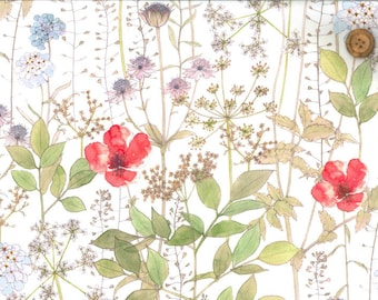 Japan Liberty fabric, Limited edition, Irma, floral fabric, liberty tana lawn, printed in Japan, fat eighth