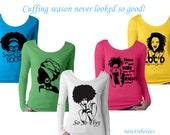 ANY DESIGN! Long Sleeve Scoop-neck Women's