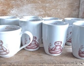 MISTAKE Mug, GRAB BAG Namaste Baby Sloths, Discounted Second, Coffee or Tea cup Sloth Meditation  Porcelain Cup,  Ready to Ship